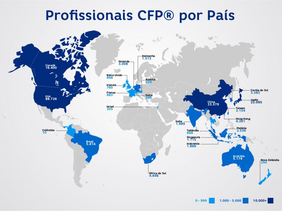 Profissionais CFP® por País